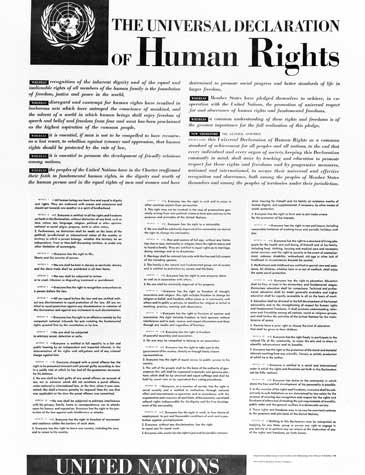 Declaração Universal dos Direitos Humanos em inglês