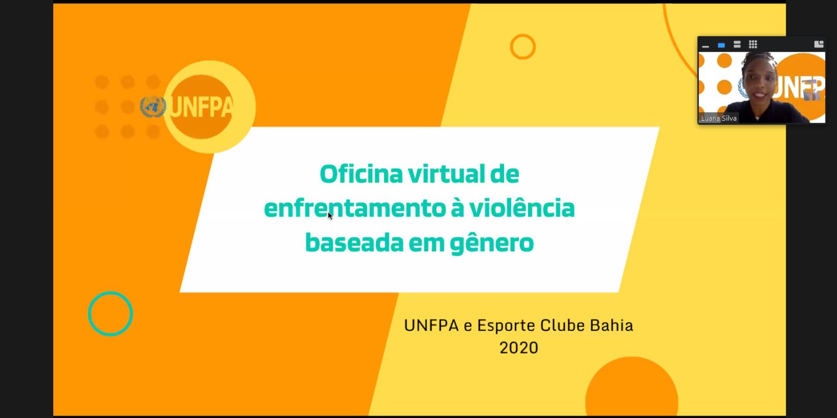 Oficina do UNFPA com profissionais do Esporte Clube Bahia
