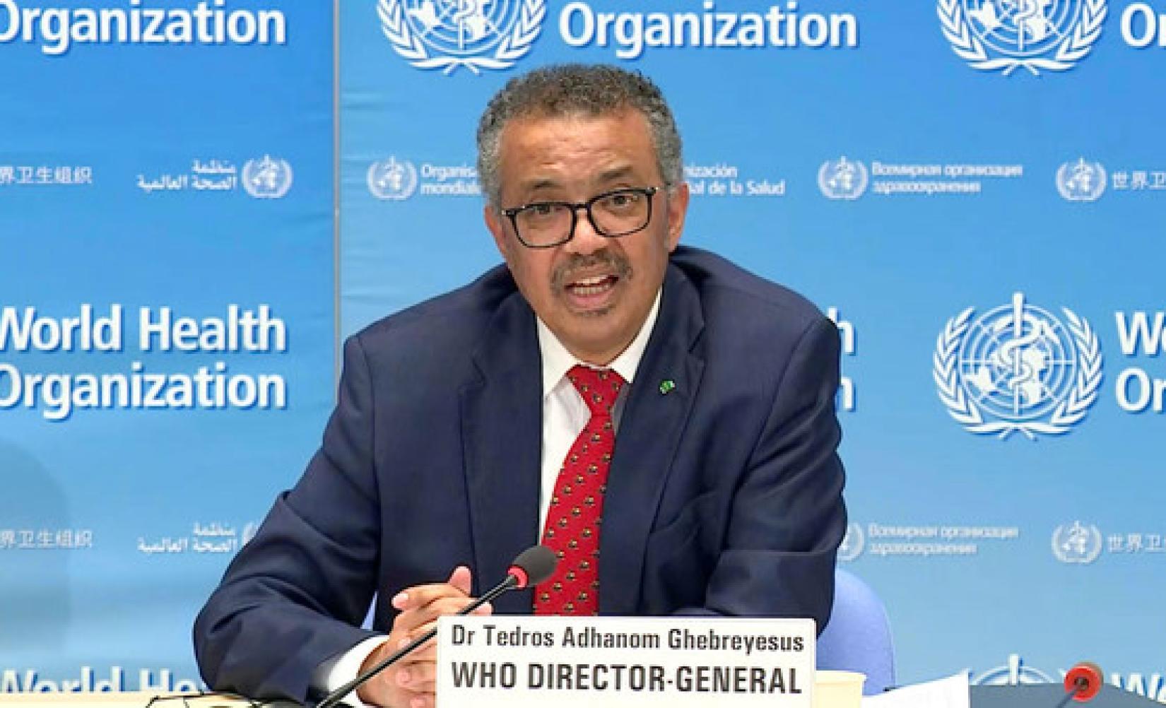 Diretor geral da OMS, Tedros Ghebreyesus, destacou o aumento de casos e a lotação de hospitais em diversas parte do mundo.