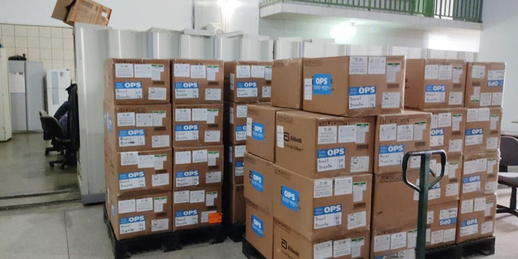 Testes de diagnóstico da COVID-19 armazenados no estado de Rondônia.