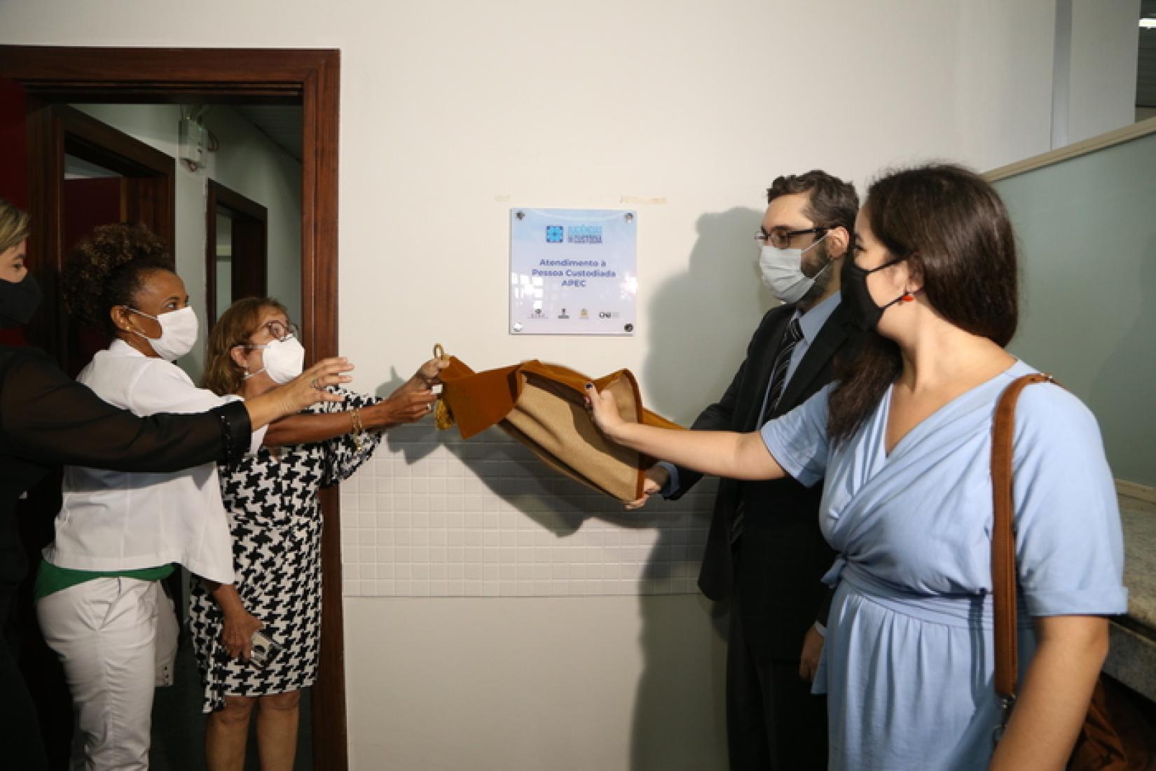Inauguração do serviço de Atendimento à Pessoa Custodiada do TJSE.