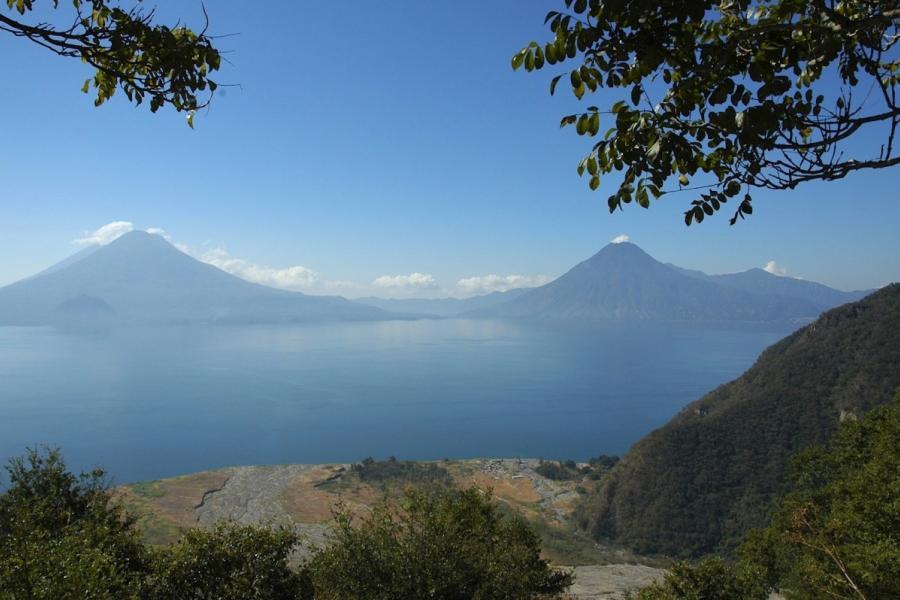 Paisagem na Guatemala, rica em biodiversidade