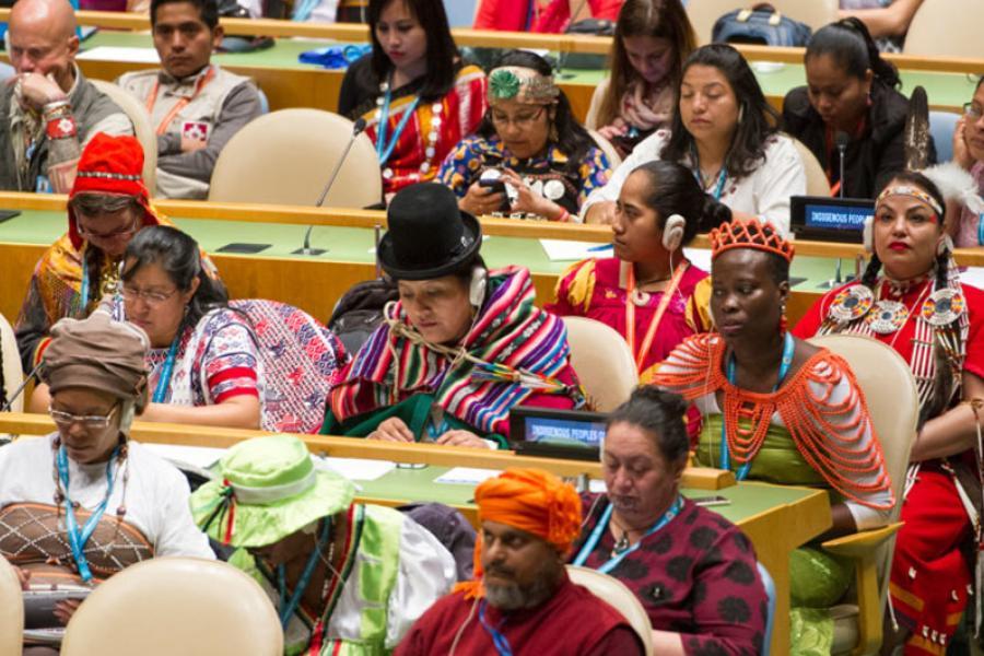 Participantes no fórum permanente sobre indígenas da ONU