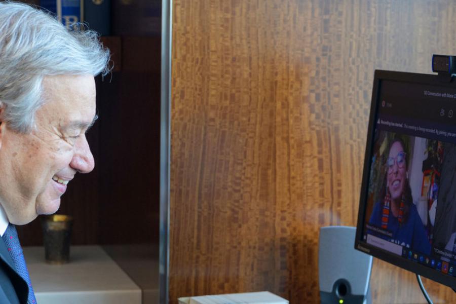 António Guterres e Paloma Costa