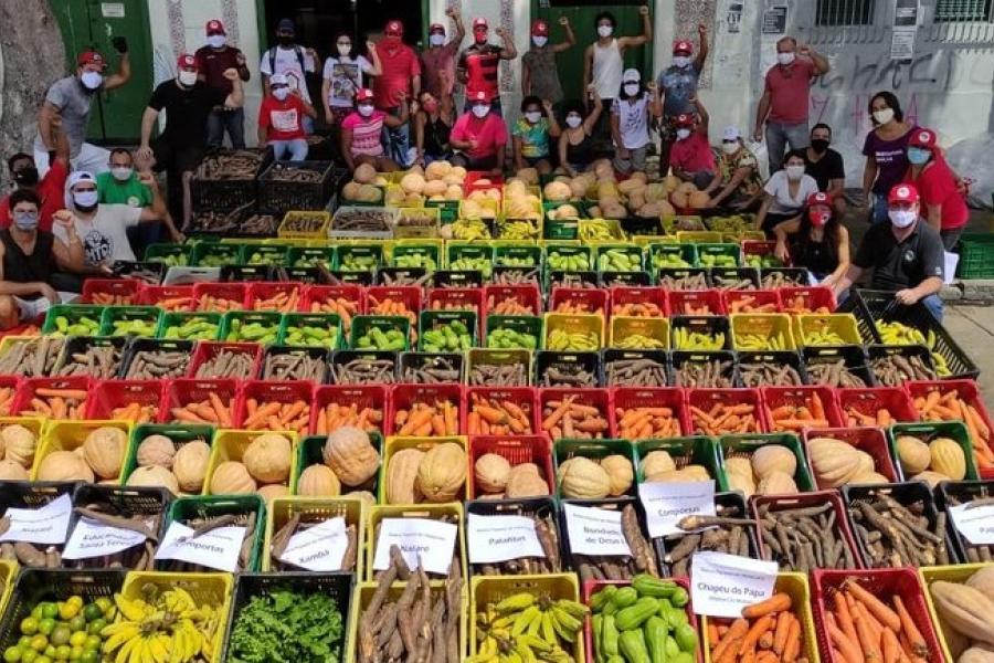 Alimentos distribuídos pela campanha Mãos Solidárias